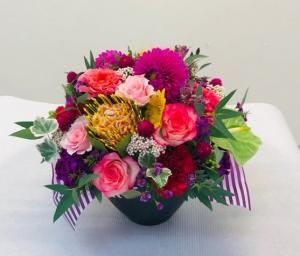 定年退職のお花